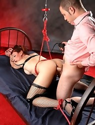BDSM slut Jasmine Jewels gets rough fucking