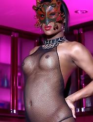 Naughty Amy posing in body stocking