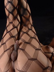 Gorgeous Foxxy posing in body stockings