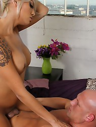 Natalia Foxx is a sexy girl with a silky smooth body and a thick cock. She's a horny girl and hooking up with Christian was high on her wishlist!