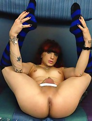 Naughty Kelly strips and spreads